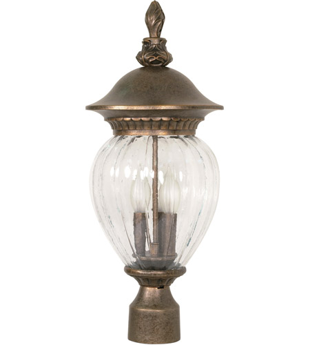 Nuvo Lighting Balun 3 Light Outdoor Post Lantern in Platinum Gold 60/791 photo
