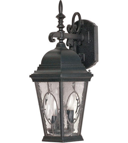 Nuvo Lighting Fordham 3 Light Outdoor Wall Lantern in Textured Black 60/793 photo