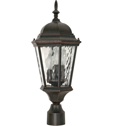 Nuvo Lighting Fordham 3 Light Outdoor Post Lantern in Old Penny Bronze 60/798 photo