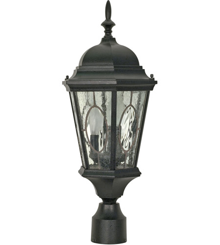 Nuvo Lighting Fordham 3 Light Outdoor Post Lantern in Textured Black 60/799 photo
