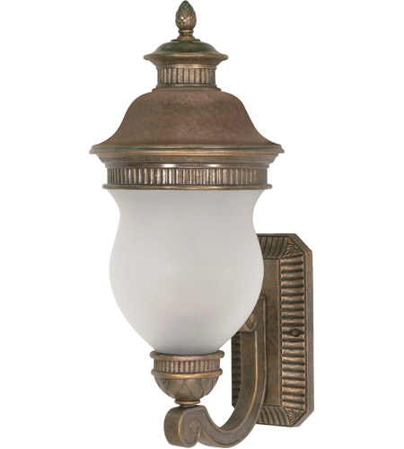 Nuvo Lighting Luxor 2 Light Outdoor Wall Lantern in Platinum Gold 60/876 photo