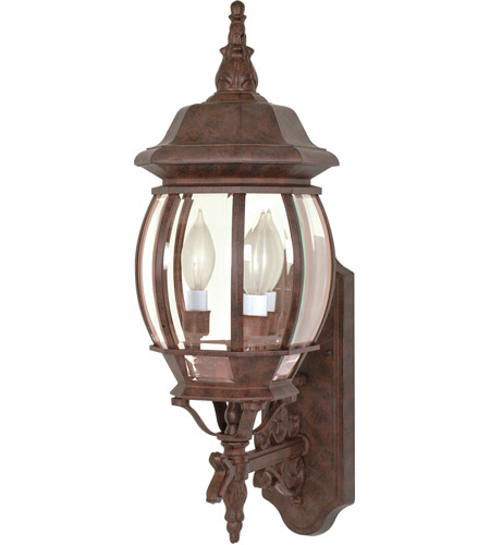 Nuvo 60/889 Central Park 3 Light 23 inch Old Bronze Outdoor Wall Lantern photo