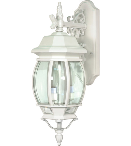 Nuvo 60/891 Central Park 3 Light 23 inch White Outdoor Wall Lantern photo