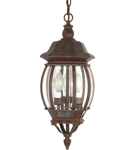 nuvo 60 895 central park 3 light 7 inch old bronze outdoor hanging