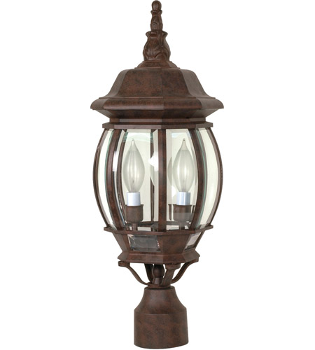 Nuvo Lighting Central Park 3 Light Outdoor Post Lantern in Old Bronze 60/898 photo