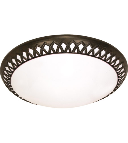 Nuvo 60/924 Rustica 2 Light 14 inch Old Bronze Flushmount Ceiling Light photo