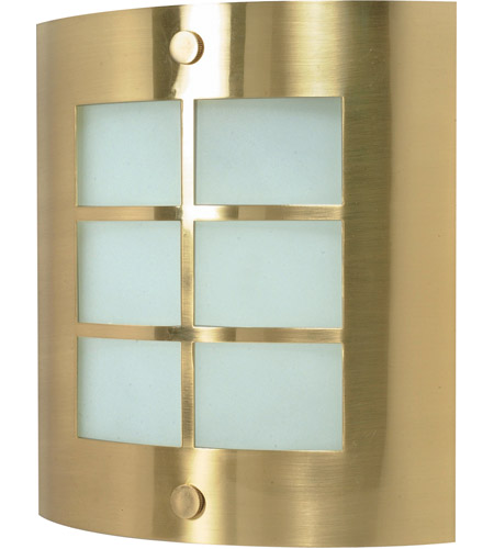 Nuvo Lighting Signature 1 Light Vanity & Wall in Brushed Brass 60/947 photo