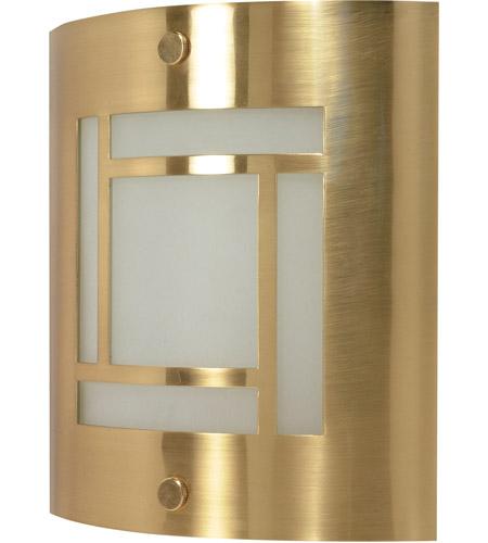 Nuvo 60/949 Signature 1 Light Brushed Brass Vanity & Wall Wall Light photo