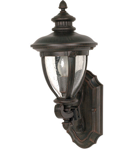 Nuvo Lighting Galeon 1 Light Outdoor Wall Lantern in Old Penny Bronze 60/950 photo