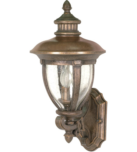 Nuvo Lighting Galeon 3 Light Outdoor Wall Lantern in Platinum Gold 60/955 photo
