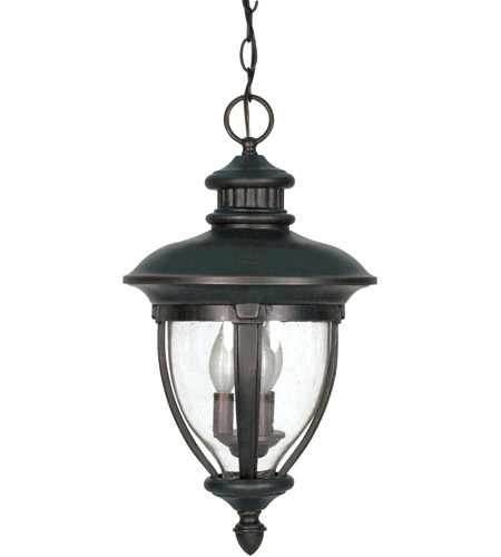Nuvo Lighting Galeon 3 Light Outdoor Hanging Lantern in Old Penny Bronze 60/958 photo
