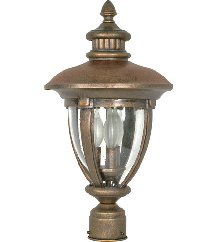 Nuvo Lighting Galeon 3 Light Outdoor Post Lantern in Platinum Gold 60/961 photo
