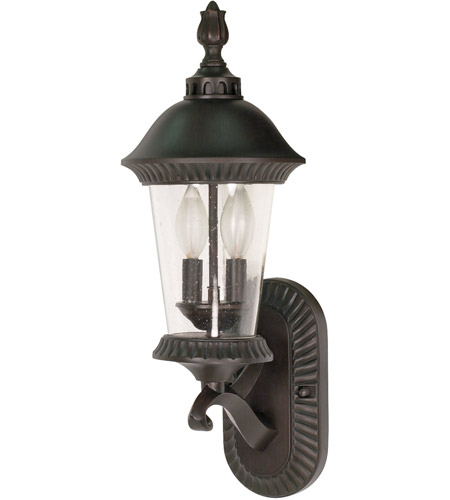 Nuvo Lighting Clarion 3 Light Outdoor Wall Lantern in Chestnut Bronze 60/962 photo