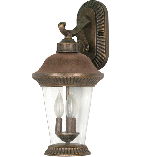 Nuvo Lighting Clarion 3 Light Outdoor Wall Lantern in Platinum Gold 60/967 photo