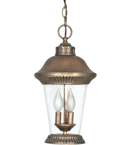 Nuvo Lighting Clarion 3 Light Outdoor Hanging Lantern in Platinum Gold 60/969 photo
