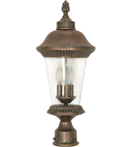 Nuvo Lighting Clarion 3 Light Outdoor Post Lantern in Platinum Gold 60/971 photo