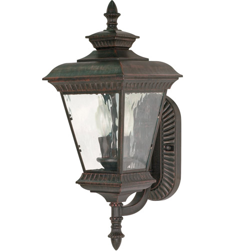 Nuvo Lighting Charter 2 Light Outdoor Wall Lantern in Old Penny Bronze 60/972 photo