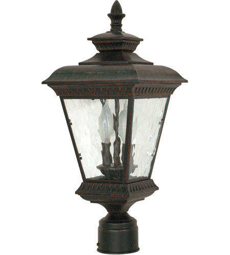 Nuvo Lighting Charter 2 Light Outdoor Post Lantern in Old Penny Bronze 60/974 photo