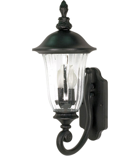 Nuvo 60/976 Parisian 2 Light 22 inch Textured Black Outdoor Wall Lantern photo