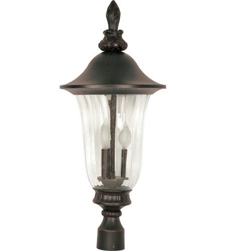 Nuvo Lighting Parisian 3 Light Outdoor Post Lantern in Old Penny Bronze 60/983 photo