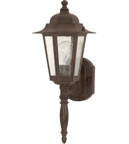Nuvo 60/986 Cornerstone 1 Light 18 inch Old Bronze Outdoor Wall Lantern photo