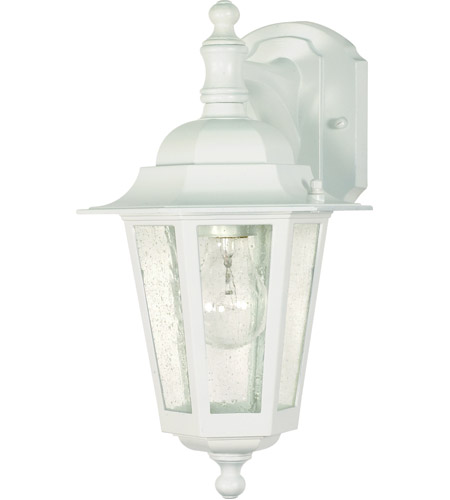 Nuvo Lighting Cornerstone 1 Light Outdoor Wall Lantern in White 60/988 photo