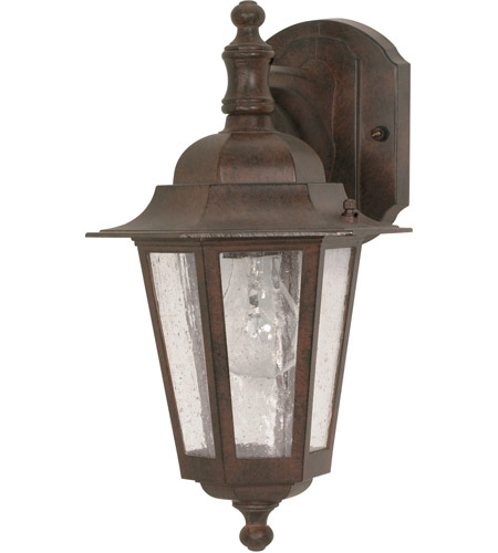 Nuvo Lighting Cornerstone 1 Light Outdoor Wall Lantern in Old Bronze 60/989 photo