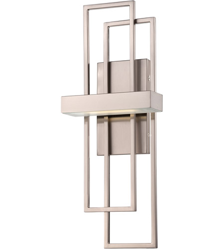 nuvo frame led 8 inch brushed nickel wall sconce wall light photo