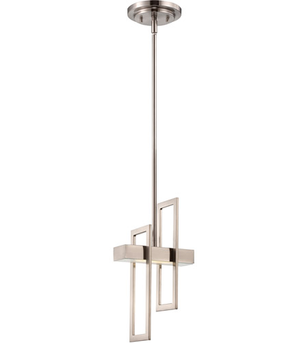 Nuvo 62106 frame led 6 inch brushed nickel pendant ceiling light mozeypictures Images