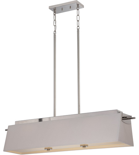 Nuvo 62 192 Claire Led 40 Inch Polished Nickel Pendant