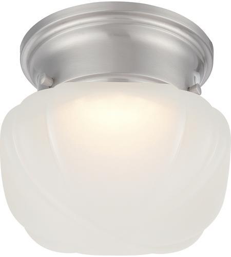 Nuvo 62613 bogie led 6 inch brushed nickel flush mount ceiling light aloadofball Images