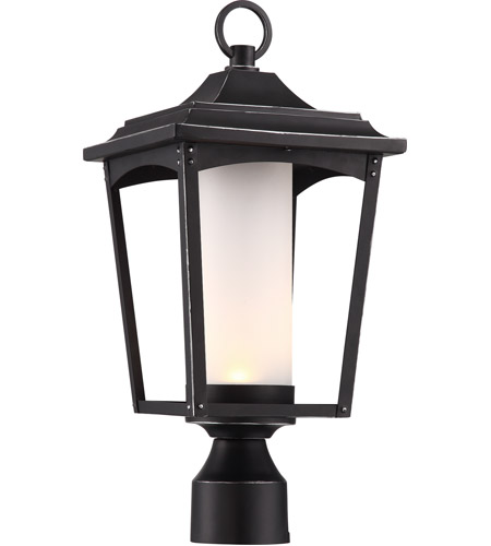 Nuvo 62/825 Essex LED 18 inch Sterling Black Outdoor Post Lantern photo