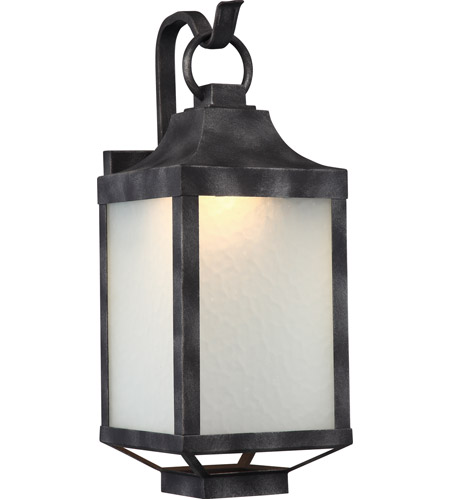 nuvo 62 832 winthrop led 20 inch iron black outdoor wall light