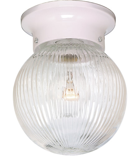 Nuvo SF76/257 Signature 1 Light 6 inch White Semi Flush Mount Ceiling Light photo
