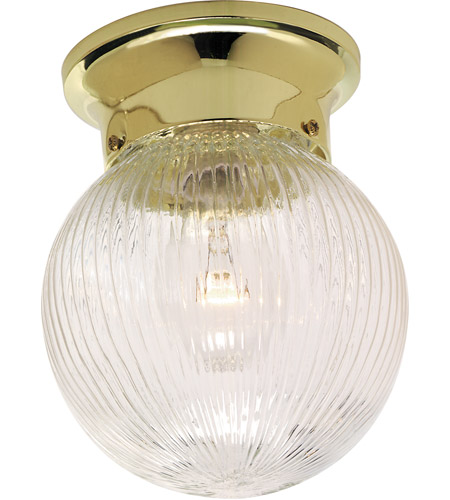 Nuvo Lighting Signature 1 Light Semi Flush Mount in Polished Brass SF76/258 photo