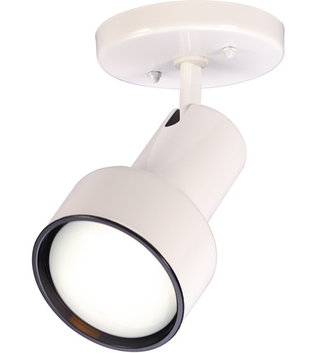 Nuvo Lighting Step Cylinder 1 Light Semi Flush Mount in White 76/406 photo