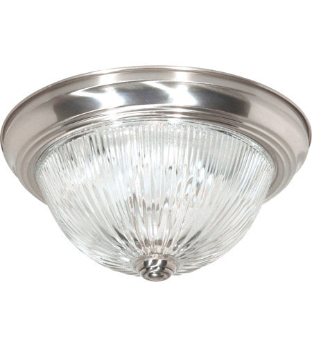 Nuvo Sf76 610 Ribbed Glass 2 Light 13 Inch Brushed Nickel
