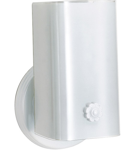 Nuvo SF77/086 Signature 1 Light 5 inch White Bath Light Wall Light photo