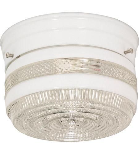 Nuvo sf77097 drum glass 1 light 6 inch white flush mount ceiling light aloadofball Images