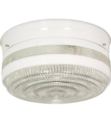 Nuvo sf77099 drum glass 2 light 10 inch white flush mount ceiling light mozeypictures Gallery