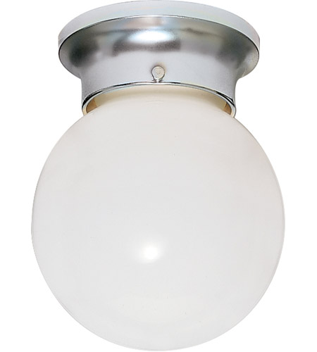 Nuvo Sf77 110 Ball Gl 1 Light 6 Inch Polished Chrome Flush Mount Ceiling