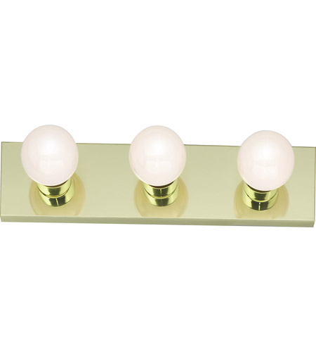 Nuvo Lighting Signature 3 Light Bath Light in Polished Brass 77/188 photo