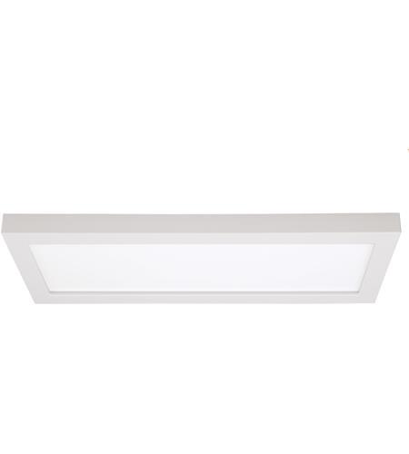Blink LED 7 inch White Flush Mount Ceiling Light, Rectangle