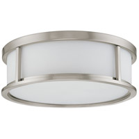 Nuvo 60/2864 Odeon 3 Light 17 inch Brushed Nickel Flush Mount Ceiling Light