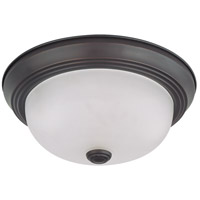 Nuvo 60/3335 Signature 2 Light 11 inch Mahogany Bronze Flushmount Ceiling Light