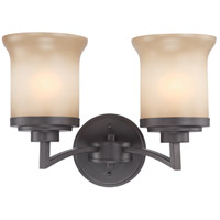Nuvo 60/4122 Harmony 2 Light 14 inch Dark Chocolate Bronze Vanity Light Wall Light