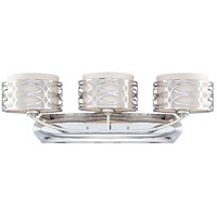 Nuvo 60/4623 Harlow 3 Light 31 inch Polished Nickel Vanity Light Wall Light