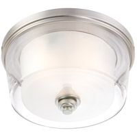 Nuvo 60/4652 Decker 3 Light 15 inch Brushed Nickel Flush Mount Ceiling Light