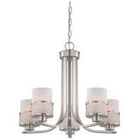 Nuvo 60/4685 Fusion 5 Light 22 inch Brushed Nickel Chandelier Ceiling Light