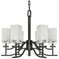 Cubica 6 Light 26 inch Textured Black Chandelier Ceiling Light